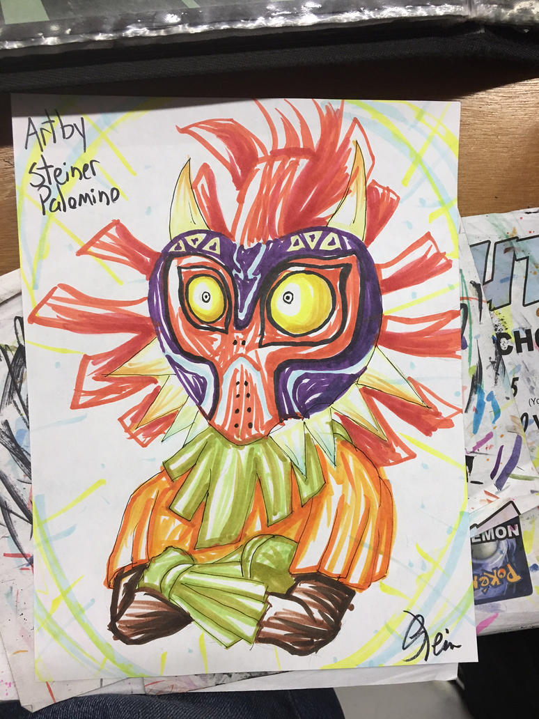 Big Apple Con Skull Kid quick sketch by StamayoStudio