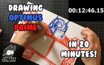 Drawing Optimus Prime in 20 minutes