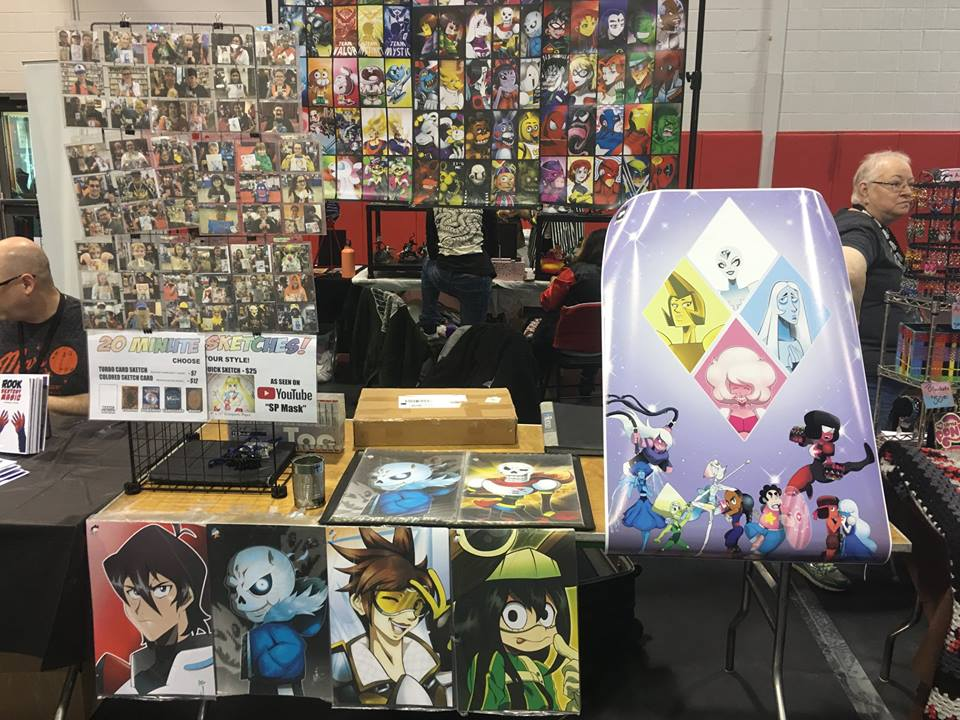 My set up at Camden Comic Con by StamayoStudio