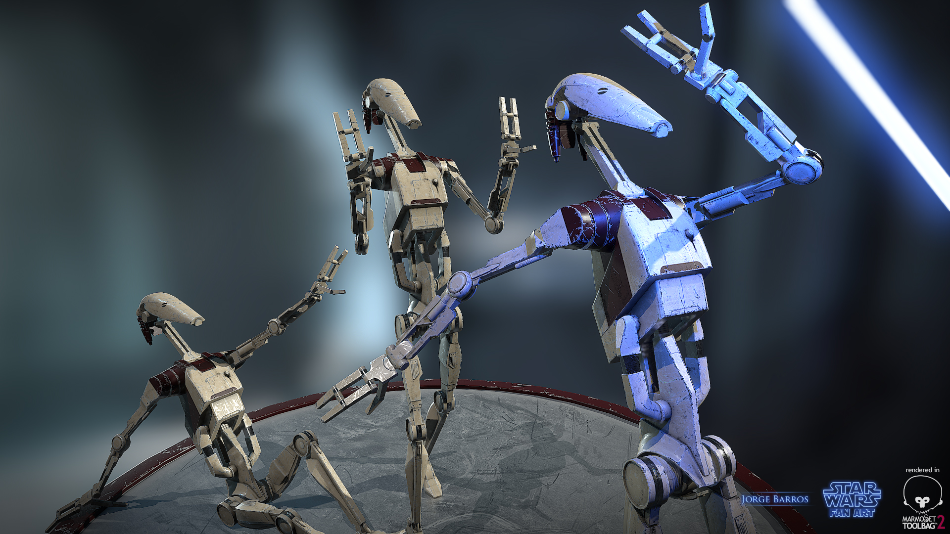 Unarmed Battle Droids By Thesphinx On Deviantart
