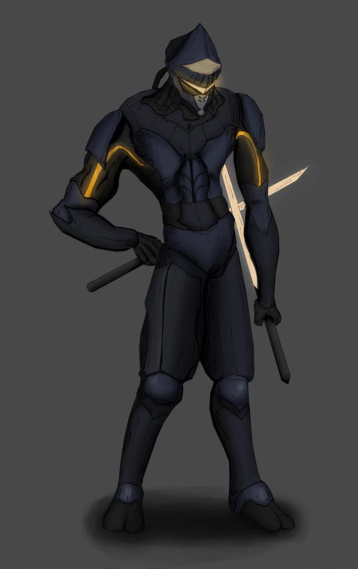 Cyborg Ninja? - coloured by scoutct6 on DeviantArt