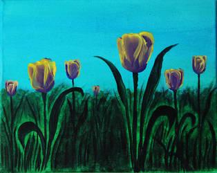 Tulips - Acrylic Painting