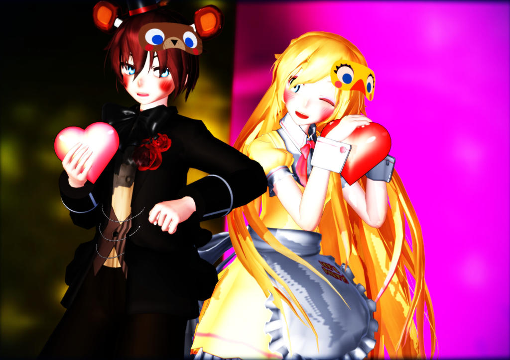 Download mmd x fnaf love wallpaper images free zaloro