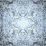 Blue Foil Mandala