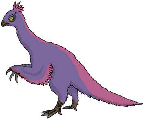 Purple therizinosaurus