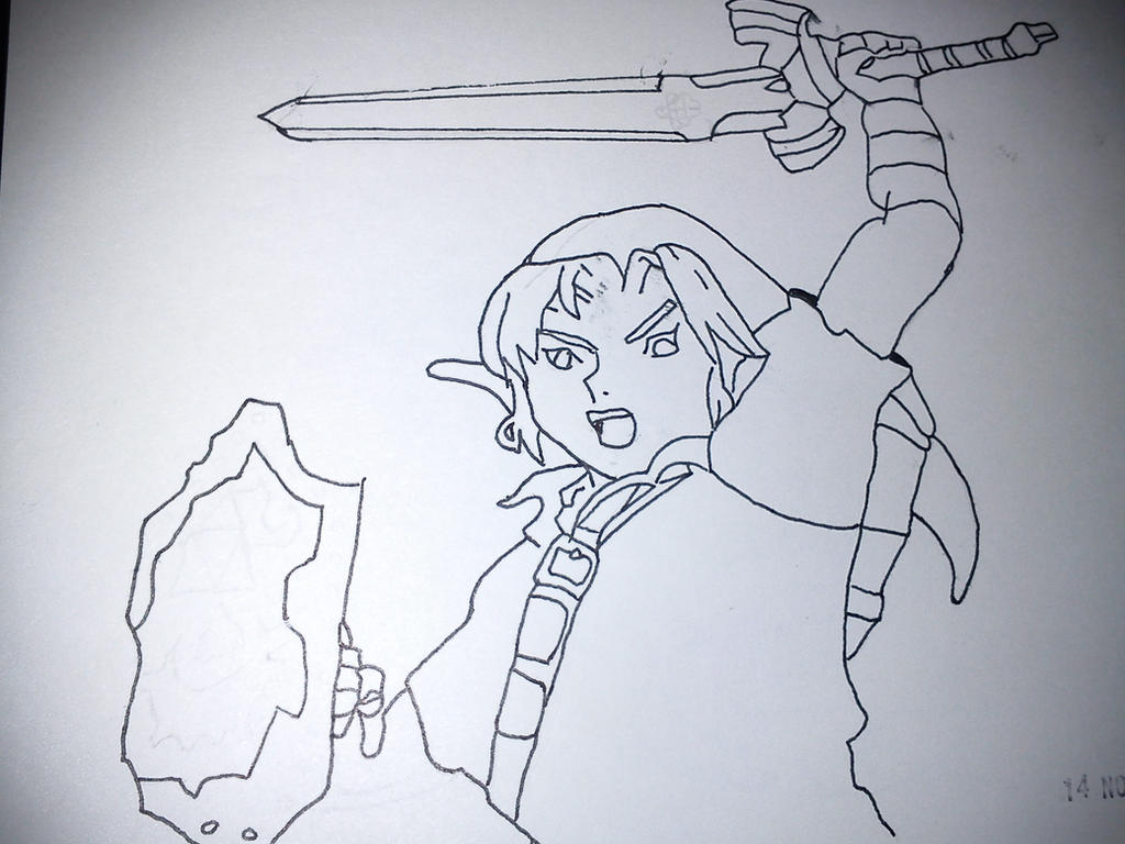 Adult Link drawing by GuerrillaChe on DeviantArt