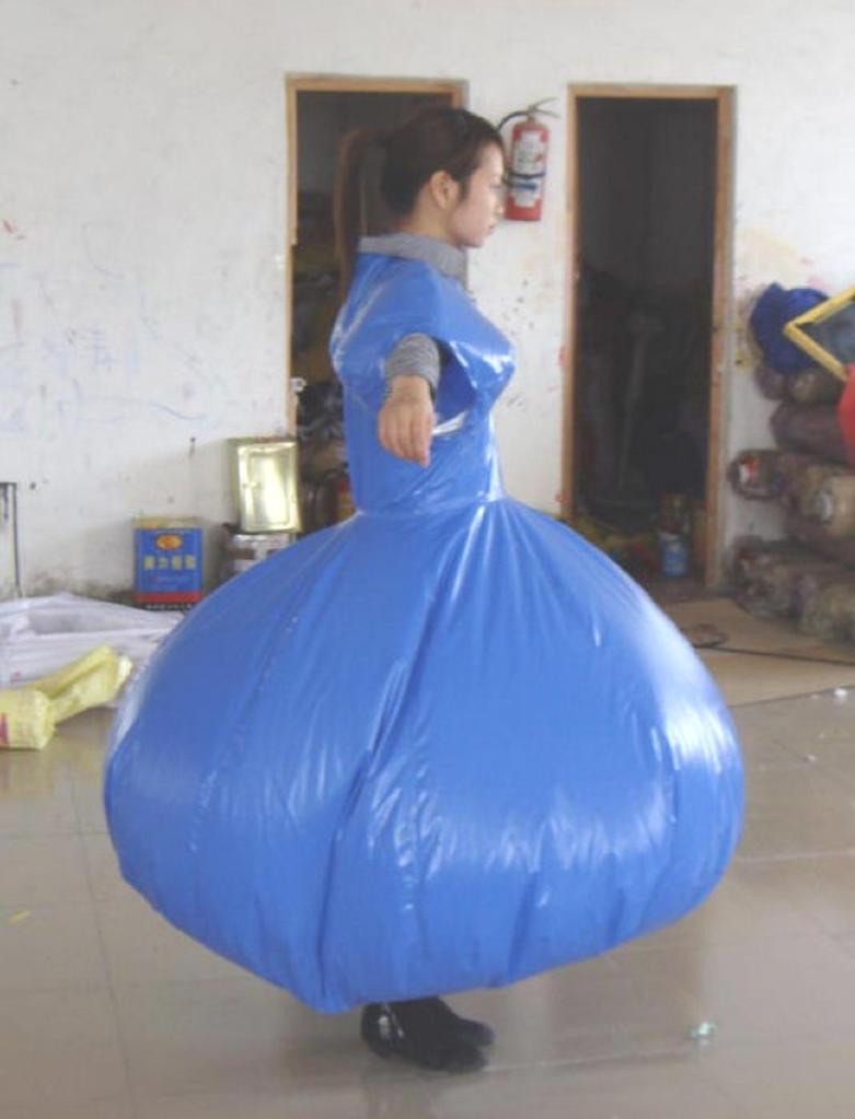 Inflatable Pvc Duplex Dress By Puncturegown On Deviantart