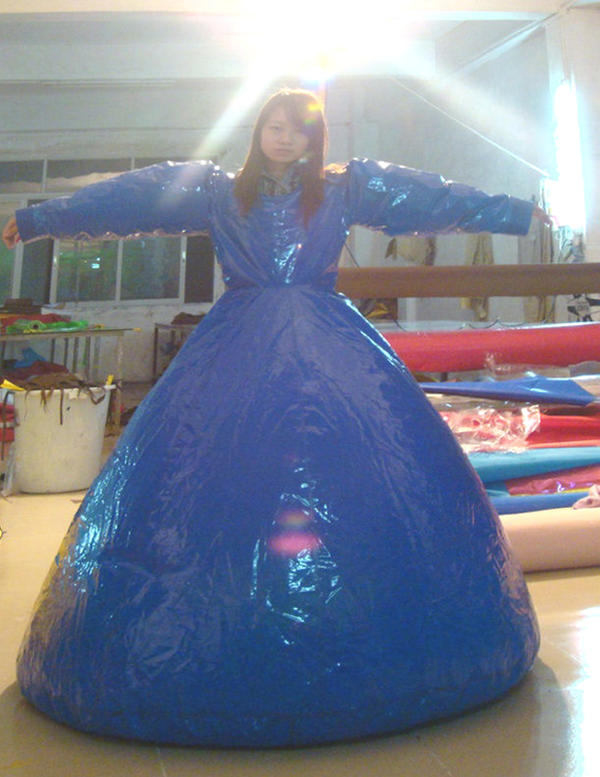 Pvc Inflatable Long Dress By Puncturegown On DeviantArt