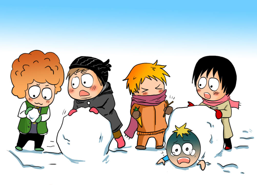 let's build a snowman by Bloodmilkk