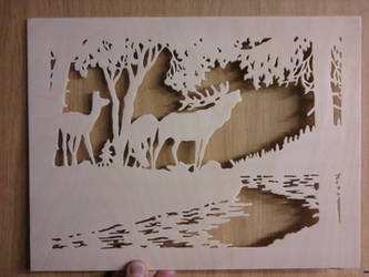 Woodwork Nature Scene by Sleepwalker1803