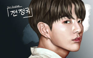 Jungkook Color Portrait by LittleBlueCreek
