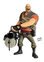 Heavy - Team Fortress 2 by Psamophis
