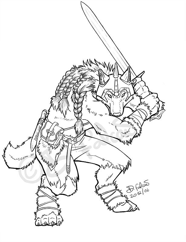 Viking Warrior Wolf Commission By Psamophis On DeviantArt