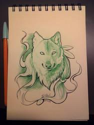 Anthro wolf study