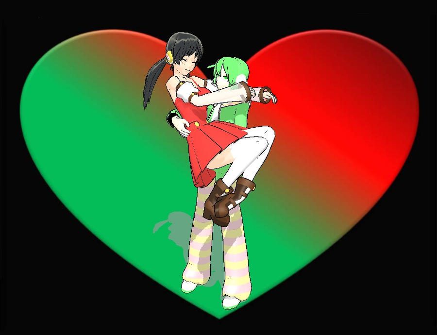 MMD - Ryuuto and  Yuki love by AmadeusStar