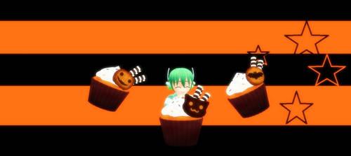 Big Halloween Cupcakes by AmadeusStar