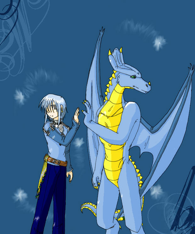 Human And Dragon By Windrider01 On DeviantART