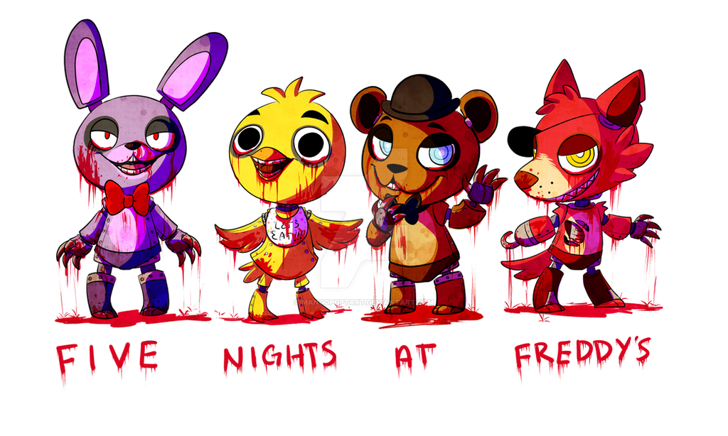 5 nights at freddys characters girls or boys