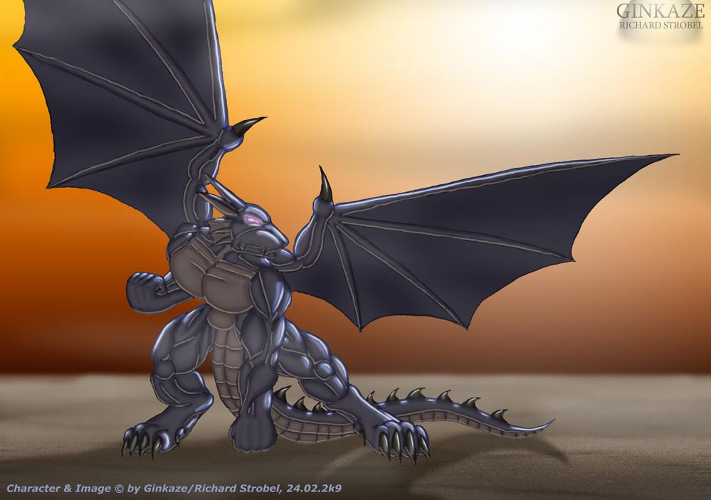 random dragon by ginkaze