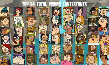 My Top 54 Total Drama Characters (MY WAY)
