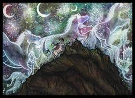 Celestial horses by Kafkami