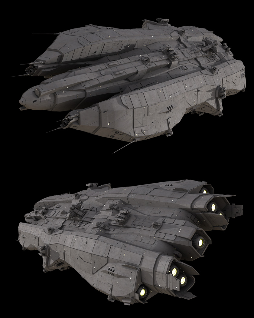 Galaxy Quest Ship Designs: Infinity Battleship By Casper87 On DeviantArt