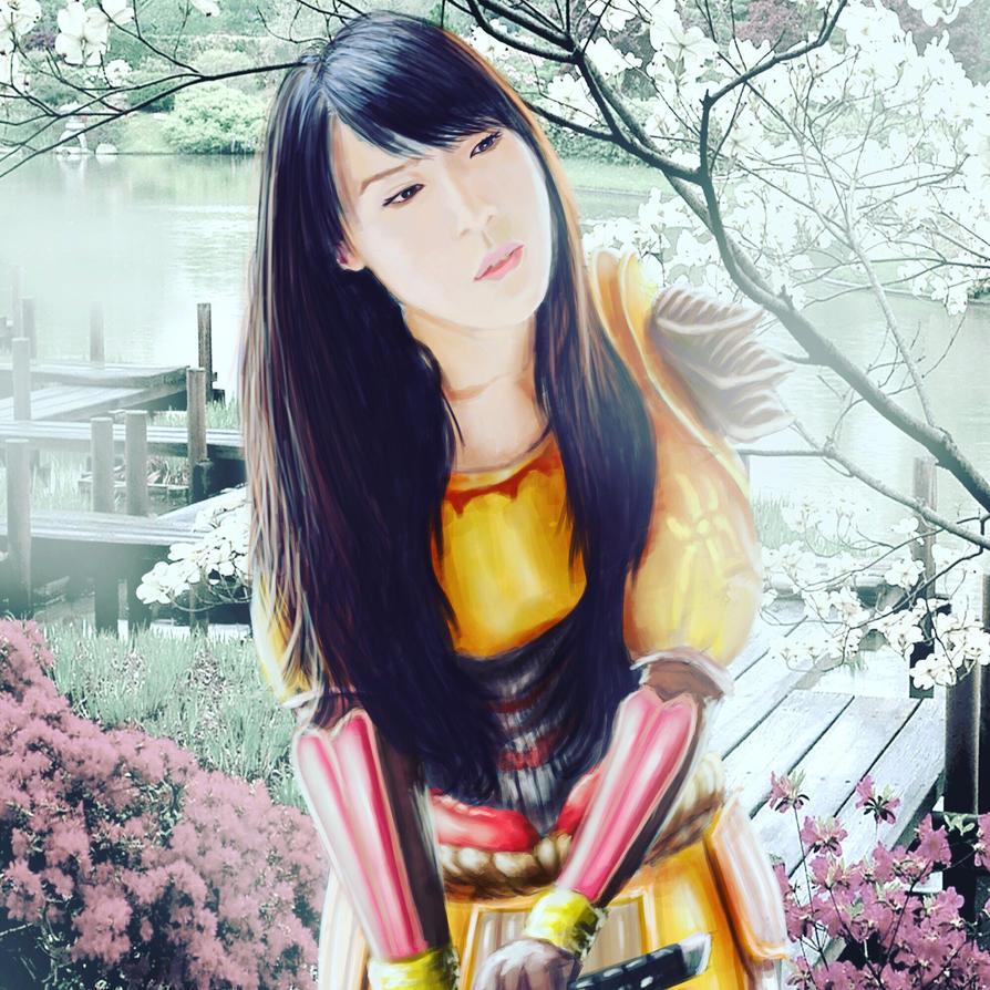 Amaterasu smite fanart  by Nimo211184