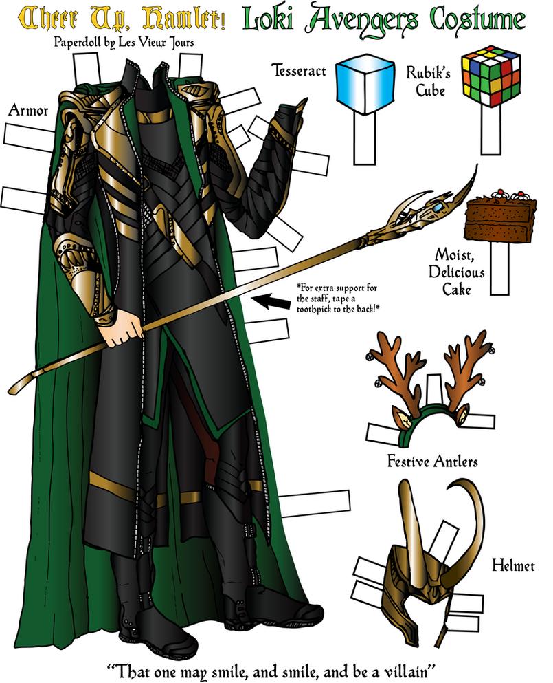 Cheer Up Hamlet Paper Doll Loki Avengers By Tirahvaalta