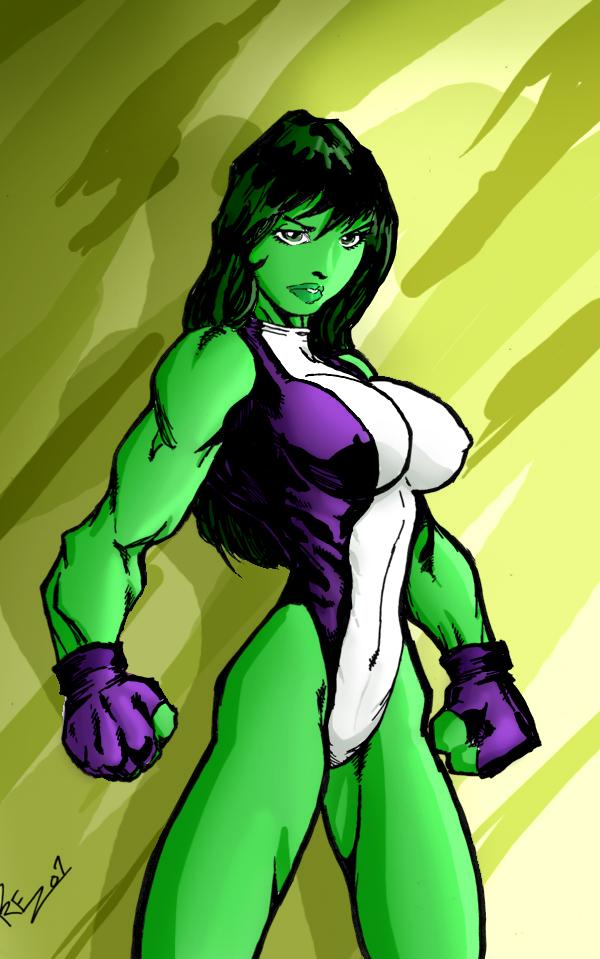 Prez's She-Hulk colored by Ritualist