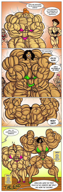 Female muscle growth comics