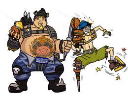 Roadhog Coop and Junkrat Jamie by Ritualist
