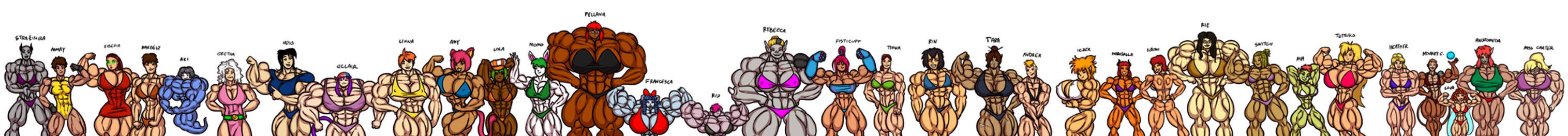 Lots of dA muscle babes