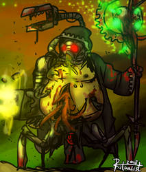 Dark Mechanicus Nurgle Tech Priest by Ritualist