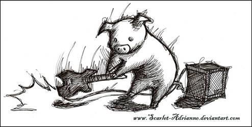 Heavy Metal PIG kiriban 3333 by Scarlet-Adrianne