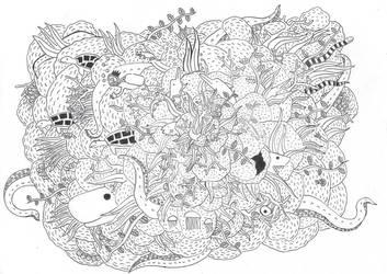 Doodle Art of a Ocean