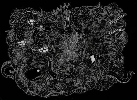 Doodle Art of a Ocean V2