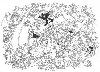 Doodle Art - Dragon Awakening