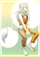 [Daily Fullbody #8 : Old OC ref] - White Lion by May-Shad