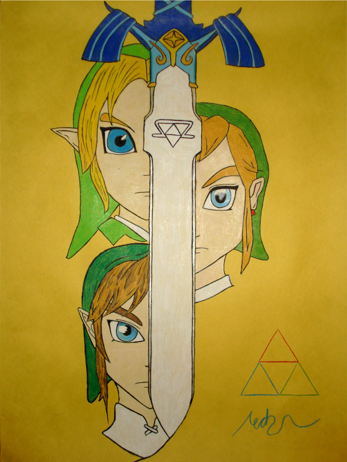 The Evolution of Link- My First StylusIRL Drawing! by KeroStudio