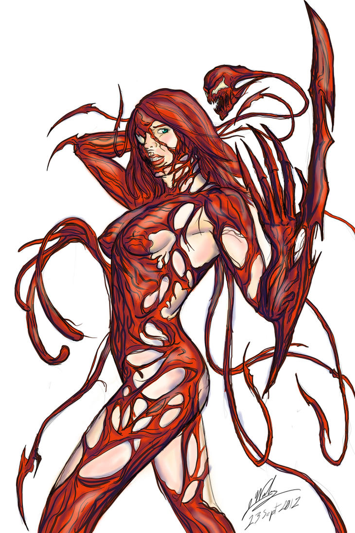 LAdy Ashke (Carnage Symbiote) Colored by Amalgam-Images