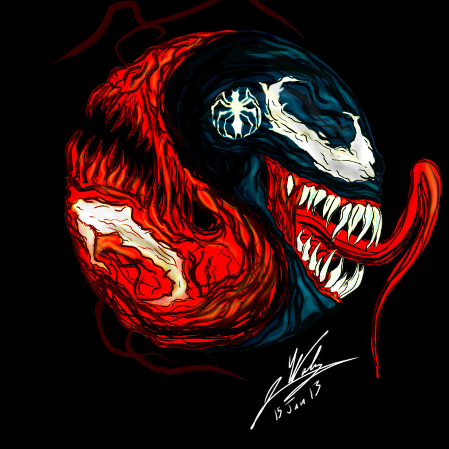 Venom Carnage Yin Yang By Amalgam Images Rk Love Photos