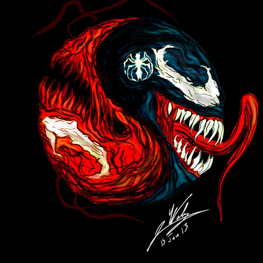 Spider Man Venom Carnage Tattoo: Venom/ Carnage Yin Yang By Amalgam-Images On DeviantArt