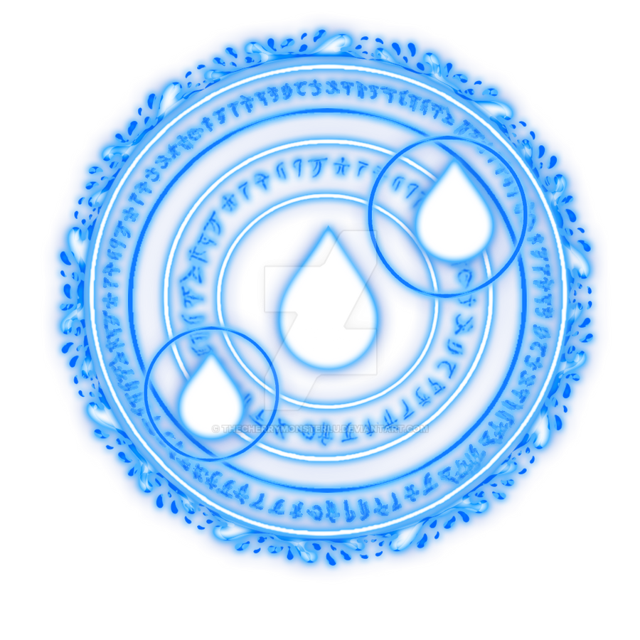 Water Magic Circle by TheCherryMonsterLu on DeviantArt