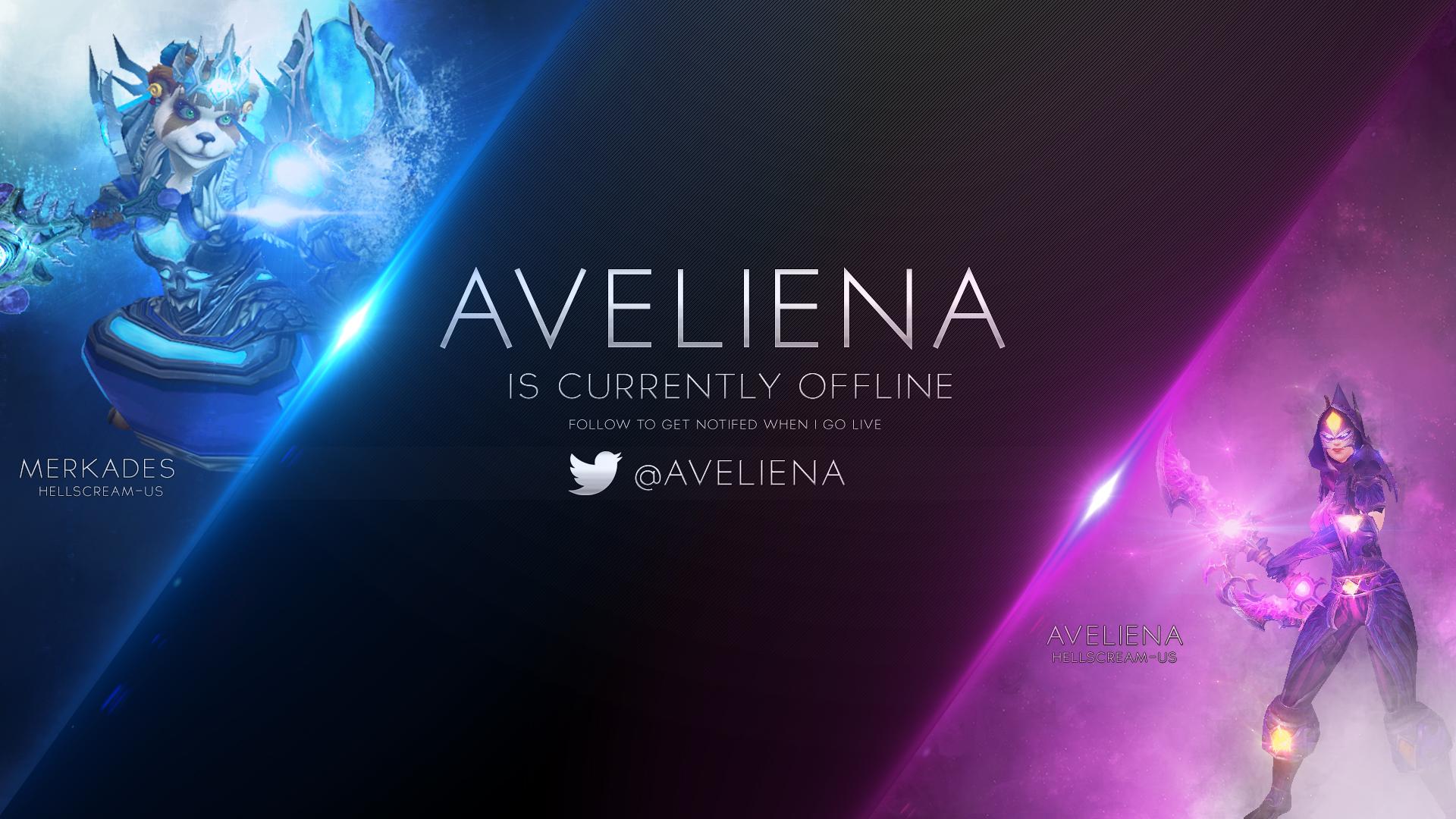 Twitch offline banner AVELIENA! by SkogDesign on DeviantArt