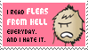 I Read Fleas Form Hell stamp