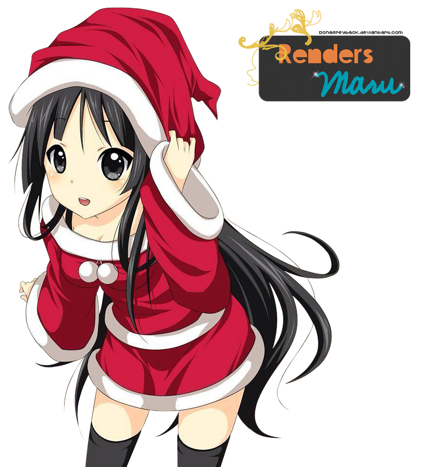 Christmas Anime Render Render Christmas Mio by