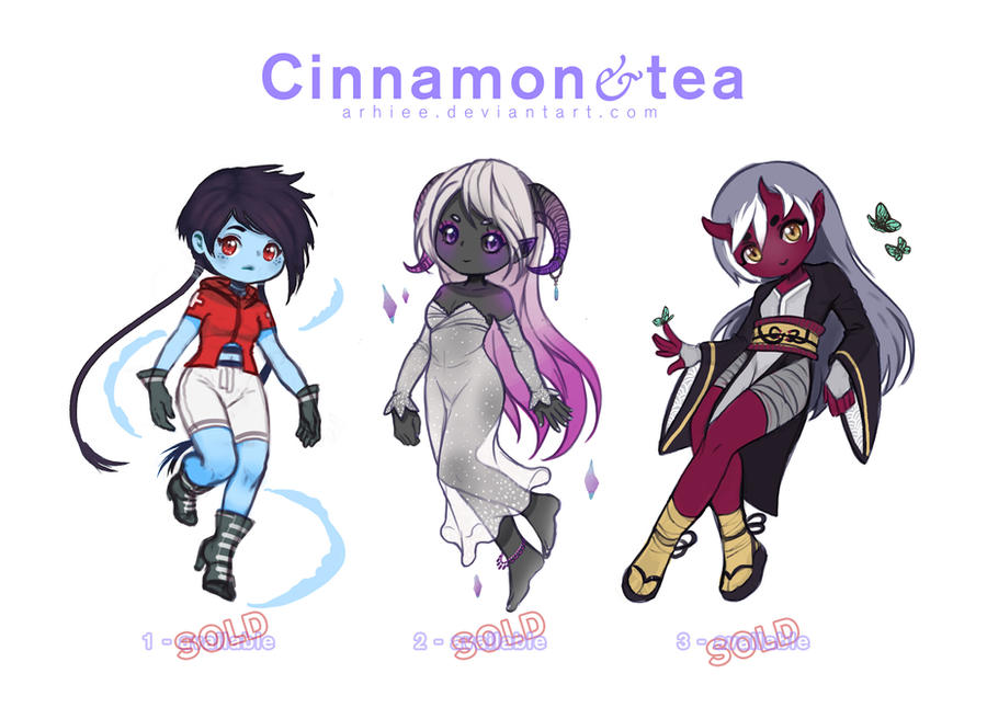 [ADOPTABLES] CINNAMON and TEA [CLOSED] by arhiee