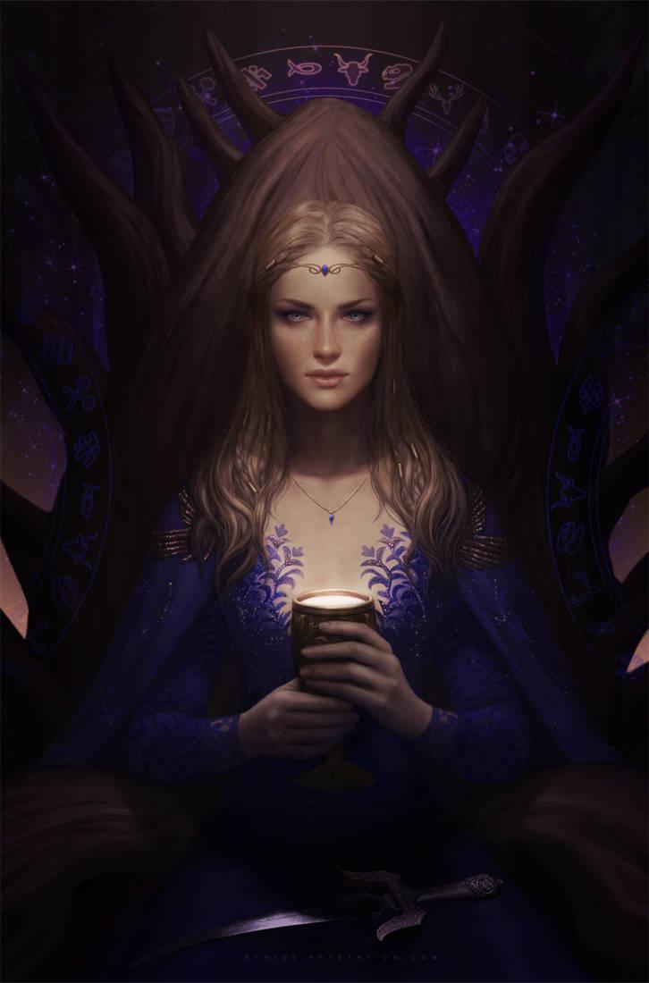 .: Queen of Cups Leidora :. by arhiee