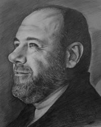James Gandolfini by dimmubear