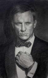 Daniel Craig as James Bond by dimmubear